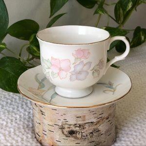 Vintage Sadler 'Romance' teacup & similar saucer